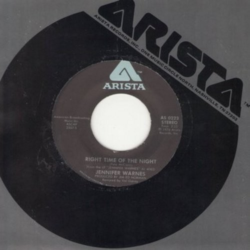 Warnes, Jennifer - Right Time Of The Night/Daddy Don't Go - EX8/ - 45 rpm Records