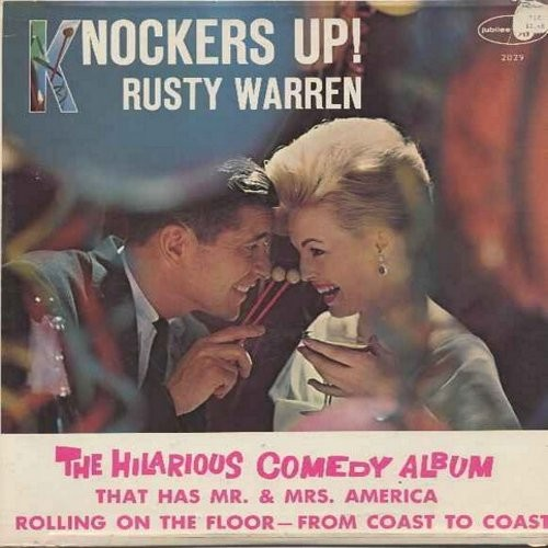 Warren, Rusty - Knocker's Up! - The hilarious comedy album that has Mr. & Mrs. America rolling on the floor - from coast to coast! (Vinyl LP record - humor not for mixed company!) - NM9/EX8 - LP Records