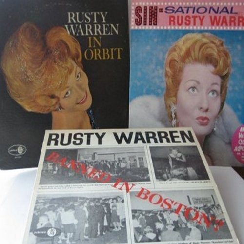 Warren, Rusty - Rusty Warren Vintage Comedy Album 3-Pack. Titles include Banned In Boston, Sin-Sational and In Orbit. GREAT for a fan of the legendary comedienne! - EX8/EX8 - LP Records