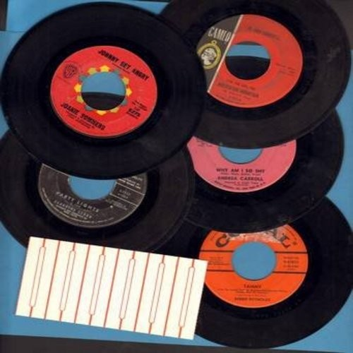 Sommers, Joanie, Andrea Carroll, Claudine Clark, Jo Ann Campbell, Debbie Reynolds - Vintage Girl-Sound 5-Pack: First issue 45rpm records, all in very good or better condition, shipped in white paper sleeve with strip of 5 blank juke box labels. Hits inclu