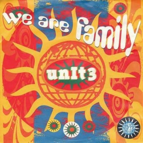 Unit 3 - We Are Family/We All Into Peace (German Pressing with picture sleeve) - NM9/EX8 - 45 rpm Records