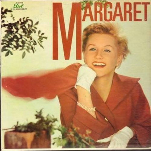 Whiting, Margaret - Margaret: I'm So Lonesome I Could Cry, Tennessee Waltz, Crying In The Chapel, Your Cheatin' Heart, Half As Much (Vinyl MONO LP record) - EX8/NM9 - LP Records