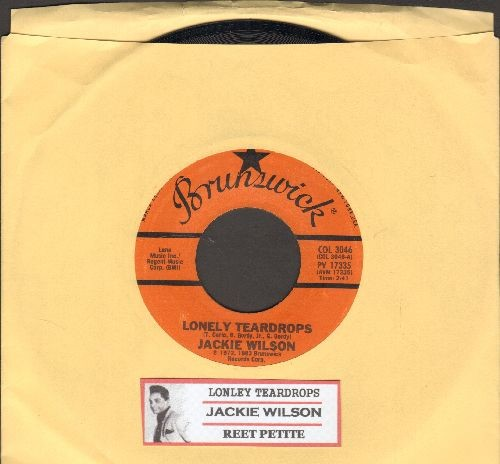 Wilson, Jackie - Lonely Teardrops/Reet Petite (double-hit re-issue with juke box label) - NM9/ - 45 rpm Records