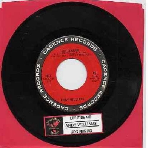 Williams, Andy - Let It Be Me/Under Paris Skies (with juke box label) - EX8/ - 45 rpm Records