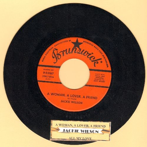 Wilson, Jackie - A Woman A Lover A Friend/All My Love (with juke box label) - NM9/ - 45 rpm Records