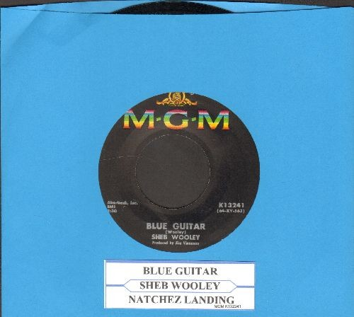 Wooley, Sheb - Blue Guitar/Natchez Landing (with juke box label) - EX8/ - 45 rpm Records