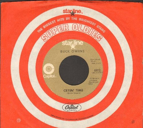 Owens, Buck - Cryin' Time/I've Got A Tiger By The Tail (early double-hit re-issue with Capitol company sleeve) - NM9/ - 45 rpm Records