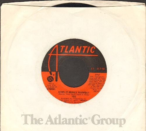 Yes - Does It really Happen?/Into The Lens (I Am A Camera) (with Atlantic company sleeve) - EX8/ - 45 rpm Records