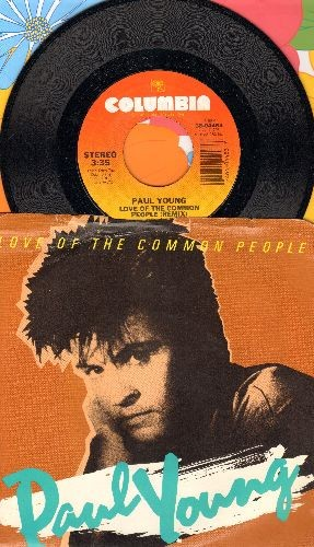 Young, Paul - Love Of The Common People/Behind Your Smile (LIVE)(with picture sleeve) - NM9/EX8 - 45 rpm Records